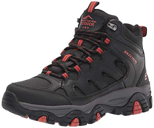 Skechers USA Men's mens Hiking Boot, Black, 10.5 US