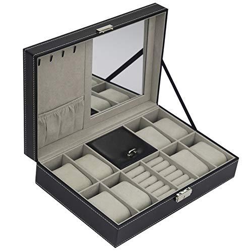 DIYARTS 10 Grid Pequeña Joyero Viaje, Watch Jewelry Packaging Box Ring Caja...