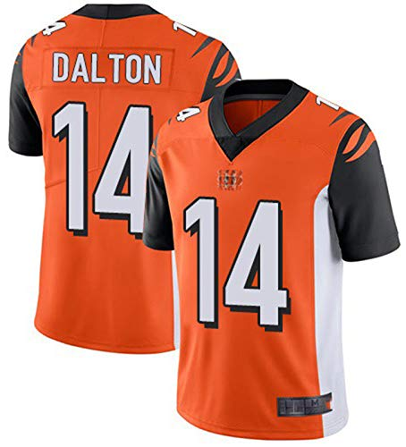DYJXIGO Dalton Rugby Trikot 14# Béngáls, American Football Jerseys Kurzarm Fan Schnelltrocknende Sport Tops Sportswear T-Shirt Kleidung orange-M