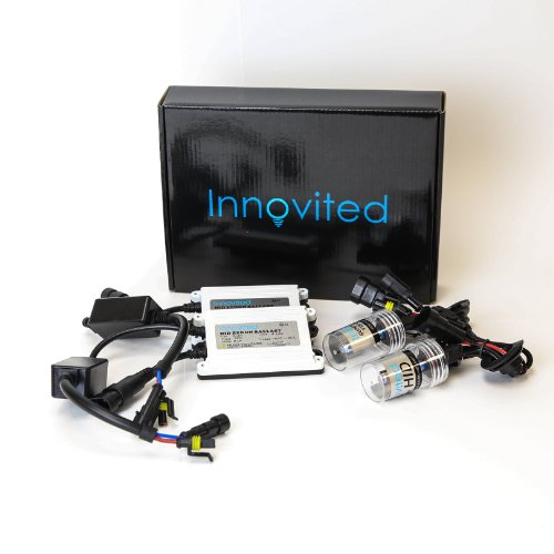 "Innovited 55W AC Xenon HID Lights""All Bulb Sizes and Colors"" with Digital Slim Ballast - H11 H9 H8-8000K - Ice Blue - 2 Year Warranty"