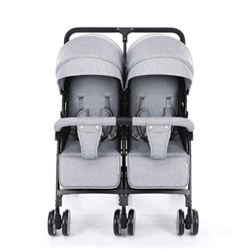 Discover Bargain Double Stroller, Twin Tandem Baby Stroller, 5 Points Safety Belts, Foldable Design ...