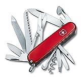 Victorinox Ranger Couteau de Poche Suisse, Léger, Multitool, 21 Fonctions, Lame, Tire Bouchon, Ciseaux, Rouge