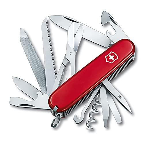 Victorinox Ranger Swiss Army Pocket Knife, Medium, Multi Tool, 21 Functions, Blade, Scissors, Red