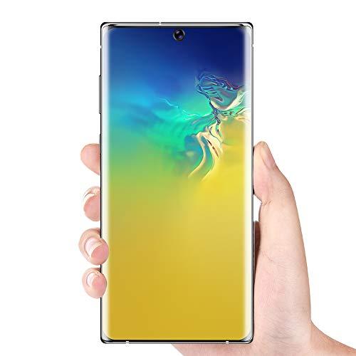 Tonysa Smartphone de Pantalla Completa con Pantalla Curvada Ultra HD de 6.8 Pulgadas, para teléfono Celular Android 10.0 Face Unlock, MTK6580P de Cuatro núcleos(Negro de la UE)