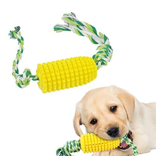 Feixiangge Hundezahnbürste, Hundezahnbürste, künstlicher Maiskolben, Molarstab, Hundespielzeug, Kauspielzeug für Haustiere, interaktives Hundespielzeug, 1 Stück