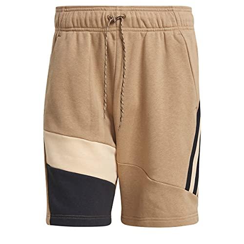 adidas GM5760 3S Tape Short Shorts Mens Cardboard/halo Amber/Black S