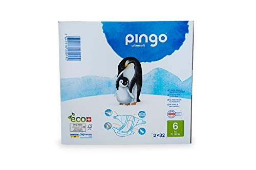 Pingo Couches Taille 6XL (15-30kg) - Boîte de 2 x 32 couches - Total : 64 couches.