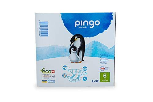 Pingo - Pañales Talla 6 XL - 2 paquetes de 32 unidades-15-
