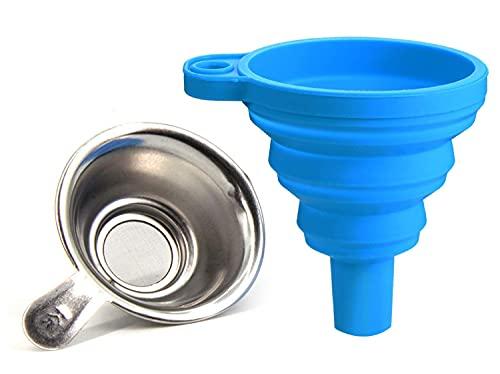 YYWEi Stampa 3D filtro in Resina, Imbuto in Silicone e Filtro in Acciaio inox per Stampante 3D per Stampante SLA/DLP 3D Liquid Light Curing Filament