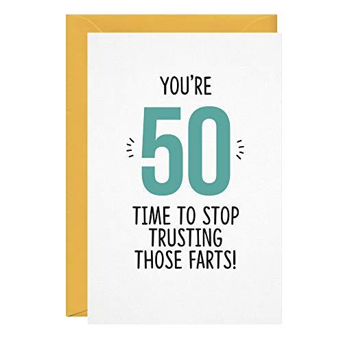Geburtstagskarte, lustig, unhöflich zum 50. Geburtstag, für Ehemann, Ehefrau, Freund, Freundin, Freundin, Freundin, Grußkarten für Ihn, Ihn, Herz, Stopp, Trusting, those Farts