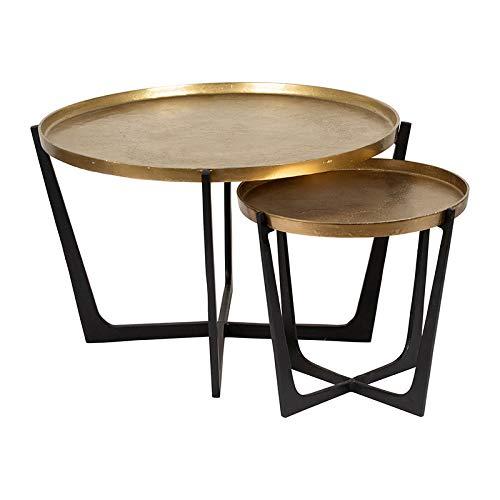 Set de 2 mesas auxiliares Dedali 84 x 51 cm