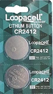 Loopacell CR2412 CR 2412 Lithium 3V 2 Batteries