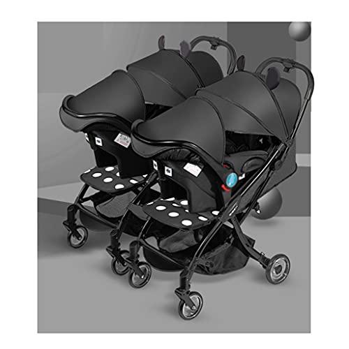 QIFFIY Kinderwagen Twin Baby-Kinderwagen...