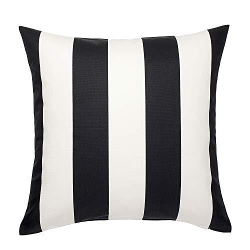 IKEA VARGYLLEN 80262026 クッションカバー 50x50cm ホワイト ブラック