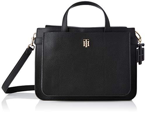 Tommy Hilfiger Damen TH SOFT Tasche, Black, One Size