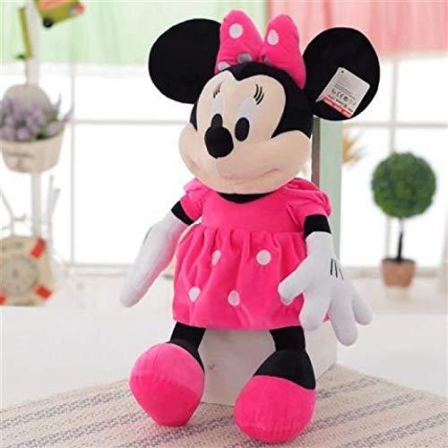 WYSTLDR Almohada Ragdoll de Personaje de Dibujos Animados de la casa de Mickey Mouse, Juguete de Felpa de Mickey Mouse, Pato Donald Plutón, niños Minnie 45CM