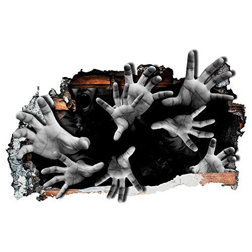 XULIUX Adesivo da parete horror 3D Adesivo da parete Adesivo da parete fantasma a mano Decorazioni per la casa Decorazioni per la casa impermeabili 2 pezzi, A