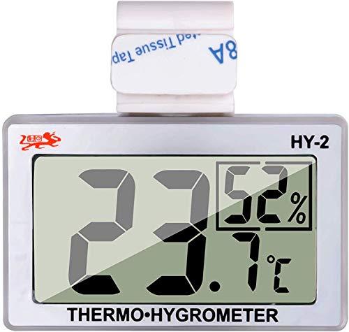 GXSTWU Reptile Hygrometer Thermometer LCD Display Digital Reptile Tank Hygrometer Thermometer with Hook Temperature Humidity Meter Gauge for Reptile Tanks, Terrariums, Vivarium