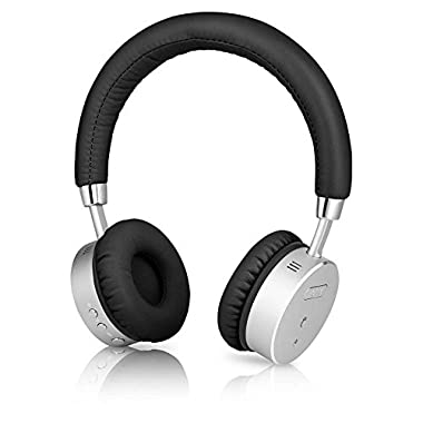 BÖHM B66 Wireless Bluetooth Over Ear Headphones with Active Noise Cancellation and Inline Microphone - Black/Silver