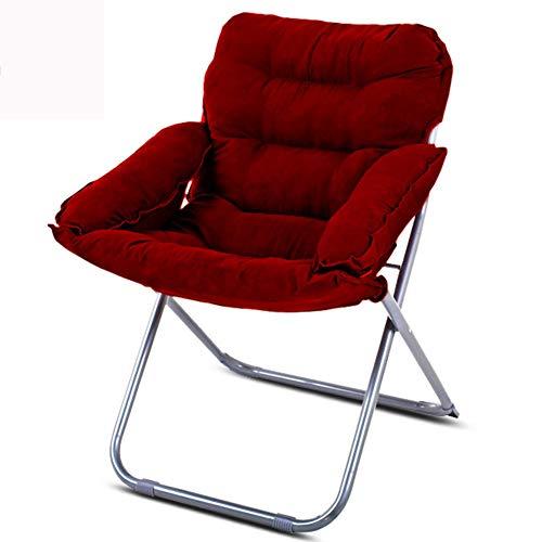 VIVOCC Pliant Chaise canapé Chaise Soucoupe de Lune, Surdimensionné Élégant Chaise de Salon canapé Divan Lits Dossier pour Chambre à Coucher Jeu Accueil Lecture TV-J 63x60x91cm(25x24x36inch)