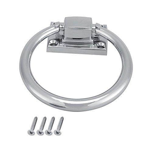 111 x 56 x 38 mm Edelstahl Drop Pull Ring Kleiderschrank Schrank Pull Griff mit Schrauben Türklopfer Regler zieht Griff Schrank Griff (2 Pcs)