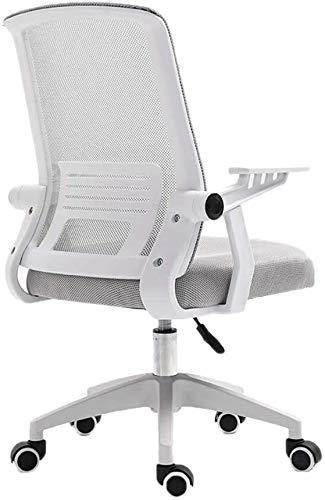 Silla de sala de conferencias, cómoda silla fácil de limpiar, silla de oficina, escritorio de computadora y silla, sala de recepción, chai (color gris) JoinBuy.R