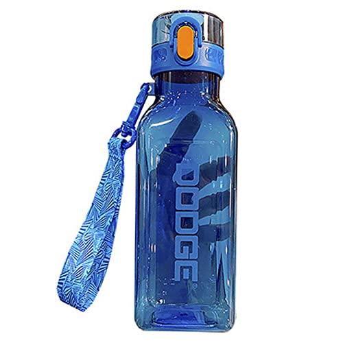 AOTEMAN Taza de agua portátil de verano para exteriores, de gran capacidad, con cuerda portátil para estudiantes, reutilizable, a prueba de fugas, botella de bebidas (700 ml, azul)