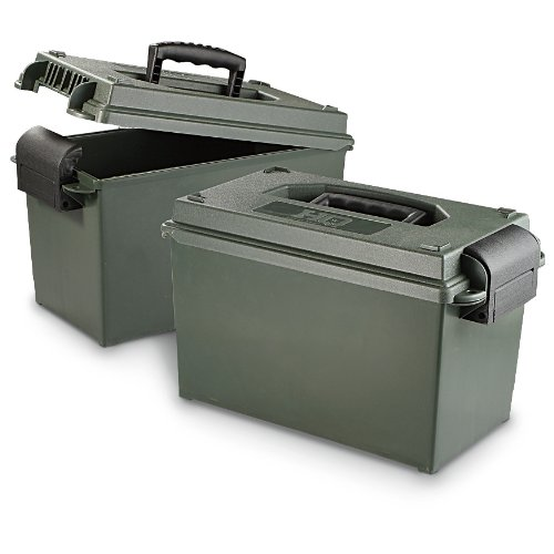 Fantastic Deal! HQ ISSUE .50 Caliber Ammo Cans, 2 Pack