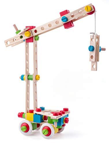 Woody Holz Konstruktionsspielset in Trommel 144 tlg