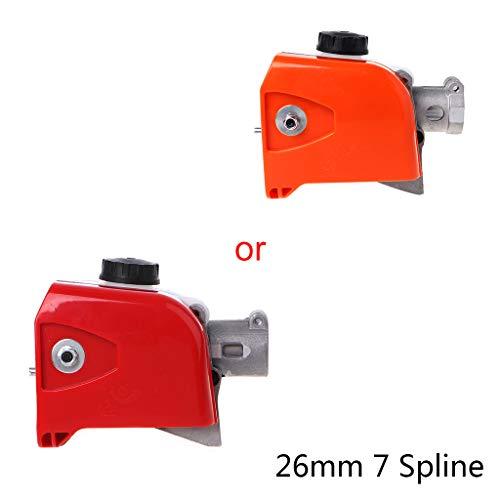 BIlinli 26mm 7/9 Spline Tree Motosierra Cabezal de Engranaje