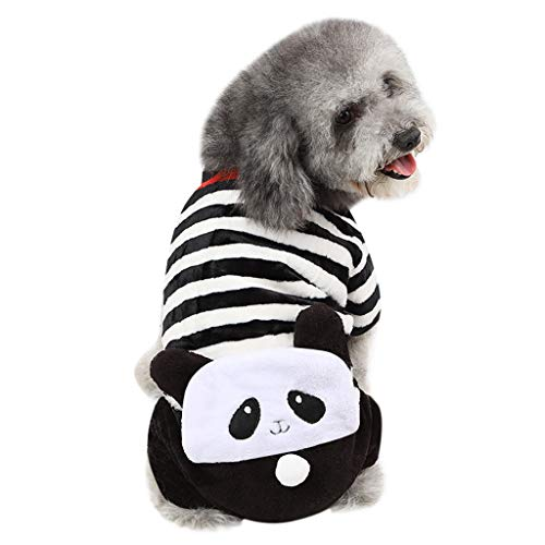 Learn More About GOTOCO. Striped Panda Pet Clothes for Dogs/Cats, Winter Warm Dog/Cat Outfit Costume...