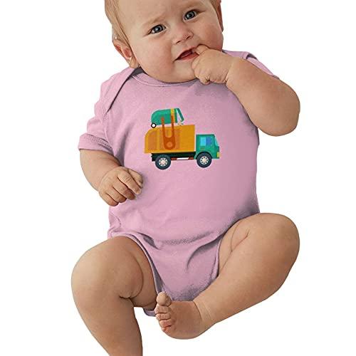 Cartoon Garbage Truck Baby Boys Pijama Unisex Romper Baby Girls Body Infant Kawaii Jumpsuit Outfit 0-2t Niños,Rosa,0-3 Meses