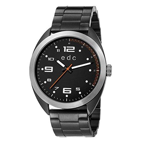 edc by Esprit Herren-Armbanduhr XL Timeless Adventure Analog Quarz Edelstahl beschichtet EE101311003