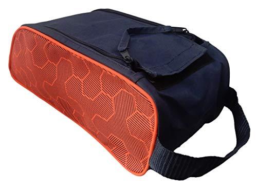 Zapatera deportiva (NARANJA), bolsa para zapatos de amplio espacio, transporta tus zapatos y accesorios para tu deporte favorito, zapatera para futbol, basquetbol, voleibol,...