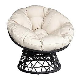 Coussin de chaise de terrasse en papasan massif Coussin de siège d'œuf épais rembourré coussin de chaise coussin…
