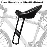 Schildeng Fahrrad Kindersitz, Mountainbike Kindersitz Tragbarer Fahrradsitz vorne mit Rückenlehne und Fußpedalen für Kinder von 2 bis 8 Jahren