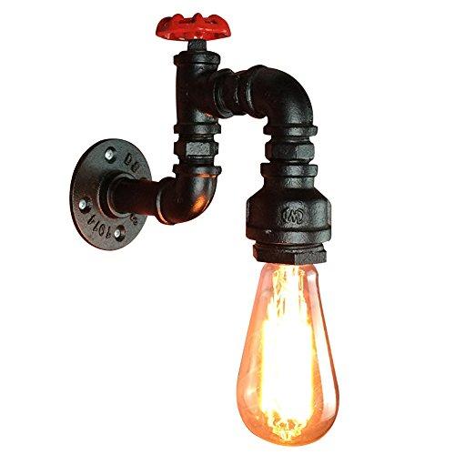 CASEWIND E27 Vintage Metall Wandleuchte Wandlampe Wandbeleuchtung Loftlampe Rohr Lampe Retro Industrial Cafe Bar