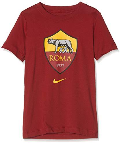 Nike A.S. Roma, Maglietta Bambino, Rosso (Team Crimson), S