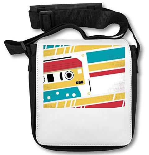 Colorful Retro Tape Music Vintage Style Old-School Simple Shape Schultertasche