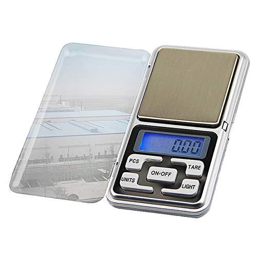 KEKEYANG Escala de Pantalla LCD electrónica Mini Bolsillo Escala Digital para joyería Scale de Cocina 200g / 0.01g Digital (Color : G122657A)