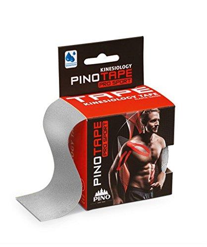 PINOTAPE Pro Sport © - das Original - kinesiologisches Tape verschiedene Farben und Designs 5 cm x 5 m- besonders hautverträglich - Kinesiologie - Physio-Tape (Silver)