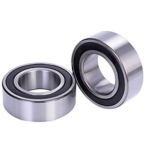 Lheng 5302 2RS Double Row Angular Contact Ball Bearing 15mm x 42mm x 19mm Sealed Chrome Steel Bearings 2Pcs