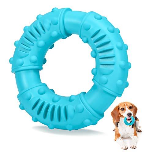 Kauspielzeug für Hunde Robust, Hund Kauspielzeug Zahnpflege, Hundezahnbürste Hundespielzeug Kauspielzeug, Multifunktion Naturkautschuk Ring Molar Chew Spielzeug für Große, Mittelgroße Kleine Hunde