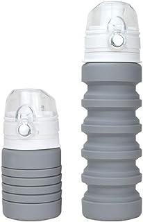 XIAOGAO Exterior De Los Deportes De Viaje De La Pava Plegable Portátil 500ml Adecuado para Todas Las Edades Creative Water Cup,Gray