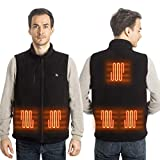 <span class='highlight'><span class='highlight'>LIFEBEE</span></span> Heated Vest, Electric Heating Jacket, Men & Women Washable Heated Fleece Jacket Recharged Body Warmer, 5V USB Coat Jacket With 3 Temperature for Outdoor Camping Fishing(No Battery)