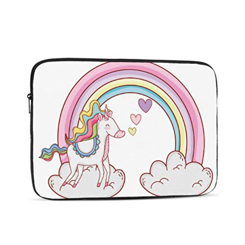 MacBook Pro 13 Cover Cute Baby Unicorn with Colorful Rainbow Cloud MacBook Air Shell Multi-Color & Size Choices10/12/13/15/17 Inch Computer Tablet Briefcase Carrying Bag