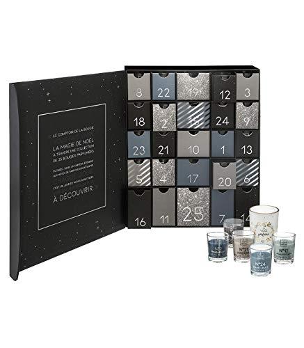 Duftkerzen-Adventskalender mit 25 Duftkerzen und 25 Gläsern