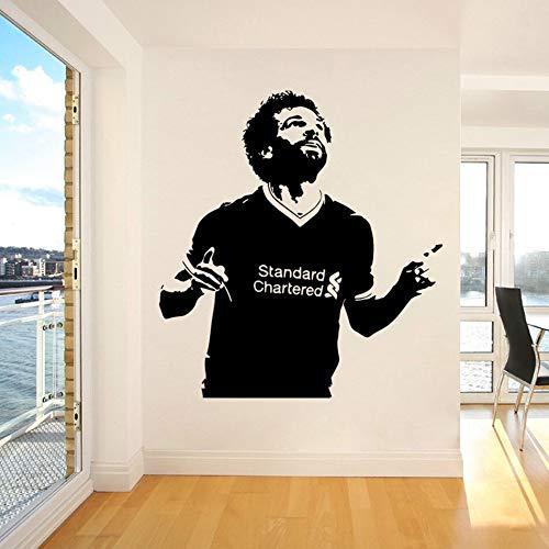 Liverpool FC fútbol deportes fútbol estrella jugador Mo Salah pegatina de pared vinilo coche calcomanía niño ventiladores dormitorio sala de estar Club decoración del hogar Mural