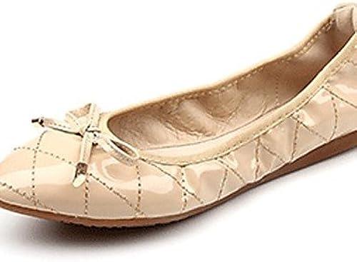 DFGBDFG PDX Chaussures Femme Cuir verni Talon Plat Confort apparteHommests extérieur bureau & carrière