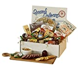 Dan the Sausageman's Special Delivery Box Featuring Gourmet Popcorns, Smoked Summer Sausage and Party Nut Tray and Wisconsin Cheeses.